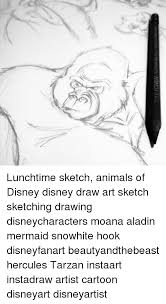 eicher nana lunchtime sketch animals of disney disney draw art