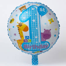large birthday balloons blue 1st birthday foil helium balloon only 2 49