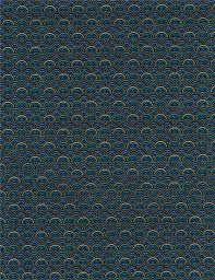 blue purple scallop pattern gold metallic fabric by timeless