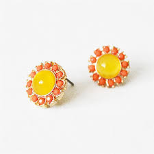 post earrings yellow sunflower studs â dainty post earrings with yellow