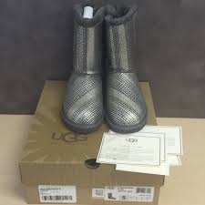 uggs on sale size 5 authentic ugg australia s bailey bow bling grey size