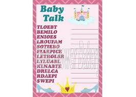Large Baby Shower Games Princess Theme Baby Shower Game Printable Princess Baby