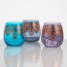 game of thrones lannister stemless wine glasses set of 2 world