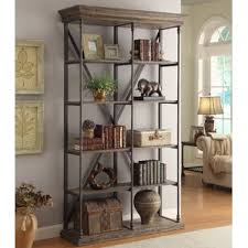 Barnwood Bookshelves by Rustic Bookcases You U0027ll Love Wayfair
