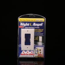 wall plate with built in night light night angel outlet wall plate with led night lights tvfire com