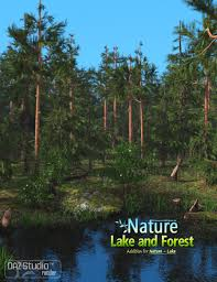 nature lake and forest 3d models and 3d software by daz 3d