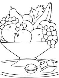 fresh fruit in the basket coloring page fun printable u0027s