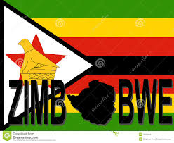 Flag Of Zimbabwe Zimbabwe Text With Map Stock Vector Illustration Of Silhouette