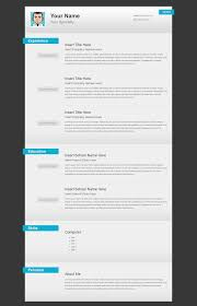 Resume Online Template by Versatile Html Resume Template Open Resume Templates