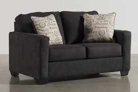 What Is At Cushion Loveseat Alenya Charcoal Loveseat Living Spaces