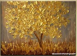 landscape paintings for sale golden tree