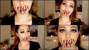 easy 6 step speak no evil sfx makeup halloween tutorial