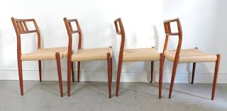Modern Dining Sets For Sale Set Of 4 Danish Modern Niels Moller Teak Dining Chairs 79 For