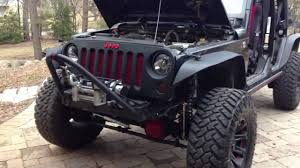 jeep front grill guard 07 13 jeep jk grill mod installation youtube