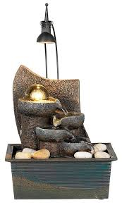 small indoor table fountains amazon com faux stone 10 high table fountain with crystal accent