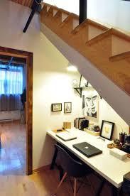 bureau sous escalier design interieur amenagement sous escalier bureau blanc chaise