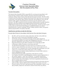 Receptionist Job Description For Resume by Car Dealer Job Description Example