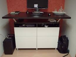 Ikea Standing Desk by Beautiful Standing Desk Made From Besta Cabinets And Capita Legs