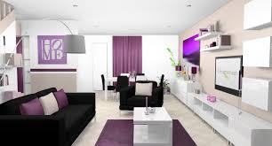 deco cuisine et blanc déco intérieur pourpre séjour salle à manger cuisine moderne blanc