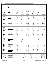 free tracing worksheets numbers 1 20 free printable numbers