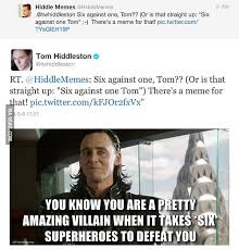 tom hiddleston aka loki joyfully finding a meme 9gag