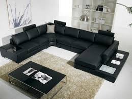 modern black and white leather sectional sofa furniture black modern sectional sofa with end table corner http
