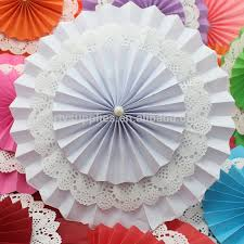 paper fans for weddings tissue paper fan wedding baby shower decoration paper fan