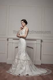 trumpet mermaid lace chapel train v neck wedding dresses