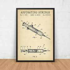 Medical Student R by Syringe Patent Printable Medical Art Print Medical Student