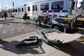 gold line hits car in pasadena one taken to hospital u2013 pasadena
