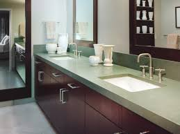 adorable design ideas using rectangular brown wooden vanity
