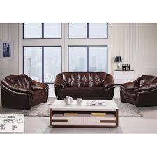 Leather Sofa Seat Dubai Leather Sofa Set With Soft Seat Cushion A858