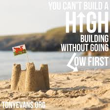 you can u0027t build a high building without going low first tony