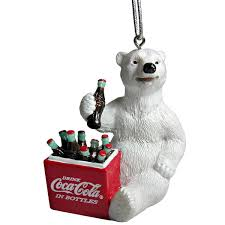coca cola polar cooler ornament coke store