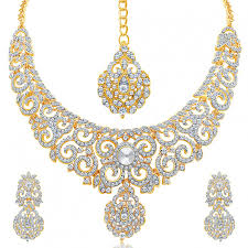 necklace set images Shop for pissara attractive gold plated ad necklace set for women jpg