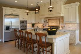 kitchen island with 4 stools size of spherical glass pendant light cutting board counter