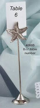 wedding table number holders silver starfish table number holders wedding reception holders
