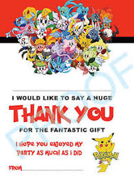 thank you cards thank you cards kids children birthday pack of 10 ebay