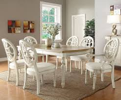 White Distressed Dining Room Table Dining Room Design White Tables Table Wood Chairs Dining Room