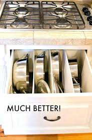 kitchen storage ideas for pots and pans pot storage ideas kitchen pan storage ideas pots and pans drawer