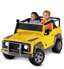 power wheels jeep yellow land rover yellow kid trax toys