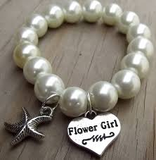 flower girl charm bracelet destination wedding wedding flower girl starfish bracelet