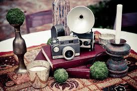 Vintage Camera Decor White Lab Photography Ruffled