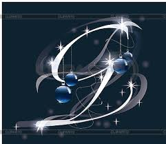 christmas letter g stock vector graphics cliparto