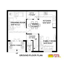Homeplan Home Plan In 690 Sq Ft Also House For Feet By Plot Collection