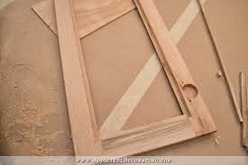 Wood Cabinet Glass Doors Fridge Wall Progress Converting Wood Cabinet Doors To Glass And