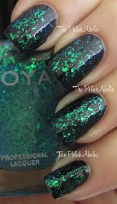 blue green opal the polishaholic zoya spring 2012 fleck effect collection swatches