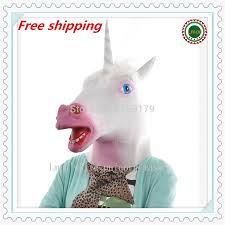 halloween animal mask latex unicorn mask one size fits all