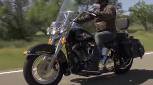 harley davidson heritage softail classic riding footage san