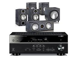 yamaha home theater yamaha rx v683 av receiver w monitor audio bronze 2 speaker